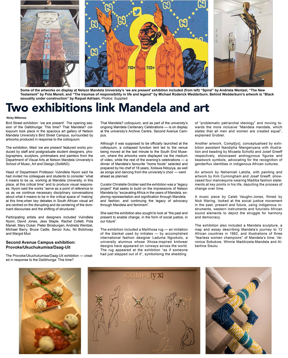 Two exhibitions link Mandela and art